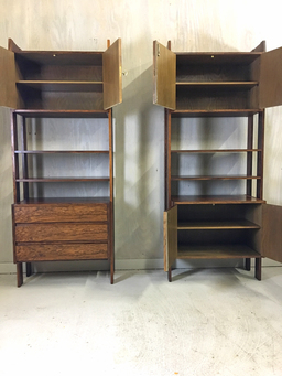 additional images for Rosewood Wall Unit with Cabinets and Shelving