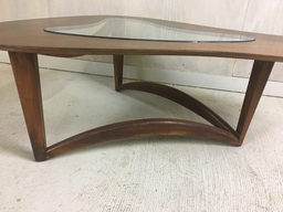 additional images for Biomorphic Coffee Table with Glass Insert