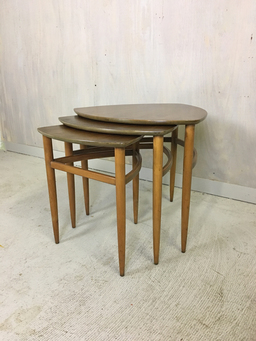additional images for Morganton Danish Modern Style Nesting Tables
