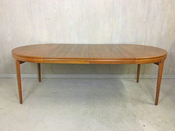 additional images for Danish Modern  Round Teak Table by Torring with Two Leaves