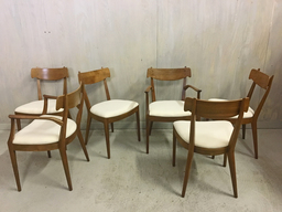 additional images for Set of Drexel Declaration Walnut Dining Chairs by Kipp Stewart