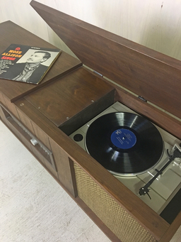 additional images for Mid Century Refurbished Stereo Cabinet with Turntable