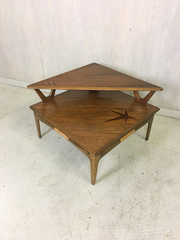additional images for  Lane Tiered Accent Table with Rosewood Inlay