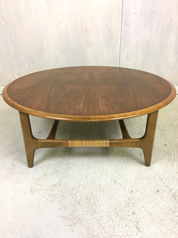 additional images for Lane Round Coffee Table with Rosewood Inlay