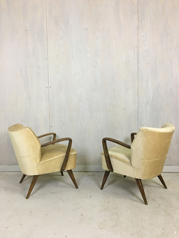 additional images for Mid Century German Upholstered Cocktail Chairs