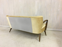 additional images for Mid Century German Upholstered Settee
