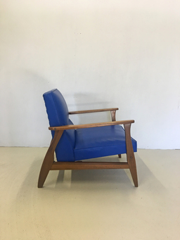 additional images for Vintage Blue Vinyl Lounge Chair