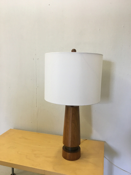 additional images for Mid Century Teak Table Lamp