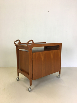 additional images for Teak Rolling Bar Cart by Dyrlund