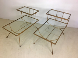 additional images for Pair of Glass and Metal Step Tables in Style of George Nelson