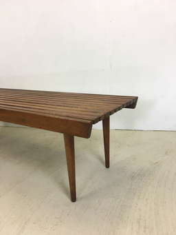 additional images for Slatted Walnut Bench or Coffee Table