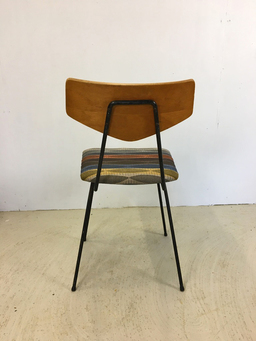 additional images for Mid Mod Accent Chair with Upholstered Seat and Metal Legs