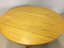 additional images for Round Eastern Butcher Block Pedestal Table