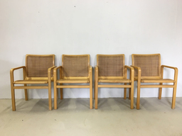 additional images for Set of Four Bentwood and Cane Dining Chairs