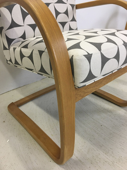 additional images for Pair of Upholstered Bentwood Accent Chairs