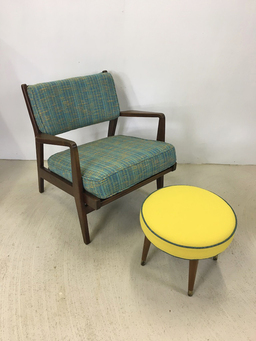 additional images for Mid Century Round Ottoman