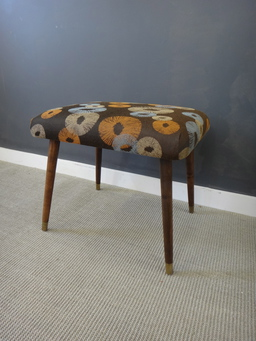 additional images for Reupholstered Mid Century Ottoman