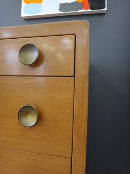 additional images for Mid Century Metal Dresser With Faux Wood Grain