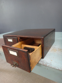 additional images for Antique Wood  File Box