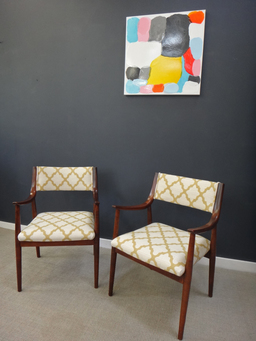 additional images for Pair of Newly Upholstered Danish Modern Accent Chairs