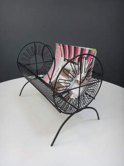 additional images for Petit Mid Century Metal Magazine Rack