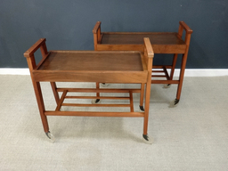 additional images for Mid Century Wood Bar Carts