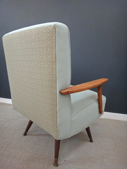 additional images for Upholstered Mid Century Rocker