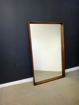 additional images for Large Mid Century Wood Mirror
