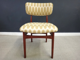 additional images for Pair of Reupholstered Mid Century Teak Accent Chairs