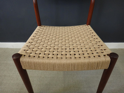 additional images for Set of Six Danish Cord Dining Chairs in Moller Style