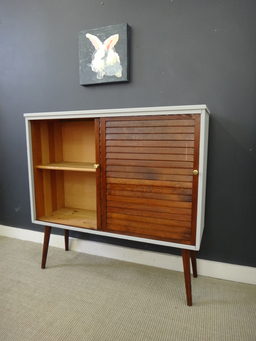 additional images for Mid Century Shelf Unit with Sliding Doors
