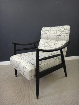 additional images for Pair of Reupholstered Retro Lounge Chairs