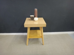 additional images for Mid Century Blond Laminate-Top Side Table