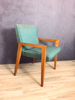 additional images for Set of Conant Ball Upholstered Dining Chairs