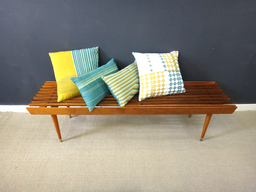 additional images for Mid Century Wood Slat Bench
