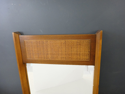 additional images for Mid Century Cane Accent Mirror