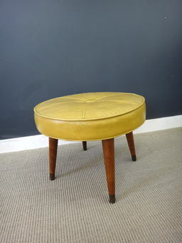 additional images for Vintage Vinyl Ottoman
