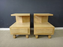 additional images for Pair Mid Century Mahogany Bedside Tables