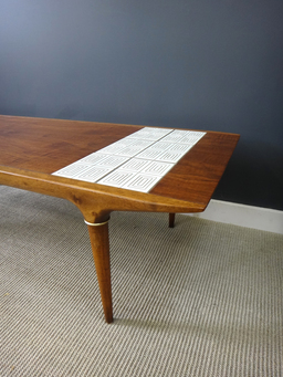 additional images for Mid Century Walnut and Tile Coffee Table