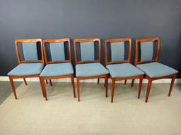 additional images for Set of Mid Century Teak Upholstered Dining Chairs