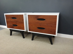 additional images for Pair Painted Mid Century Bedside Tables