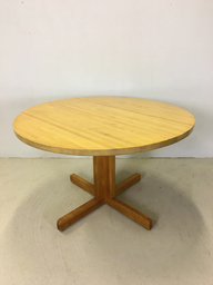 Round Eastern Butcher Block Pedestal Table