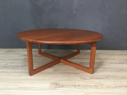 Danish Modern Round Teak Coffee Table
