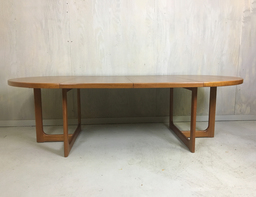 Danish Modern Round Teak Table with Leaves
