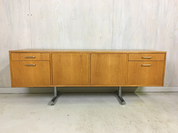 Hans Eichenberger Oak Credenza for Stendig with Chrome Base