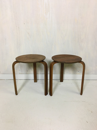 Alvar Aalto Style Stacking Wood Stools or Side Tables