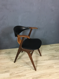Mid Century Dutch AWA Cowhorn Armchair