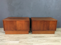 Pair of Danish Modern Teak Cabinets