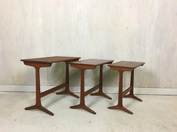 Heltborg Danish Modern Teak Nesting Tables
