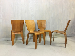 Set of Four ThadenJordan Birch Bentwood Chairs
